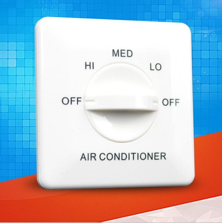 YK301 Panel Pipe Fan Speed Controller Fan Coil Three-speed Control Switch Central Air Conditioning Switch