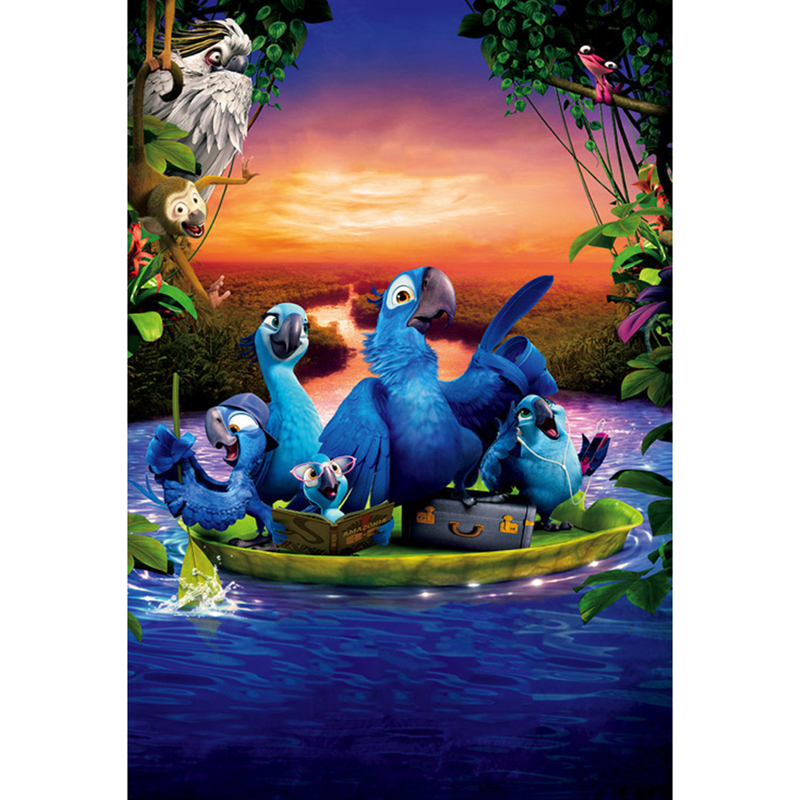 Full Diamond Painting Parrot Family Travel Diy Diamond Embroidery Anime Cartoon Decoration For Kids Room A Good Gift For Family
