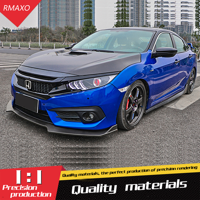 For Honda Civic Rear spoiler ABS Rear front Bumper Diffuser Bumpers Protector For 16 Civic Body