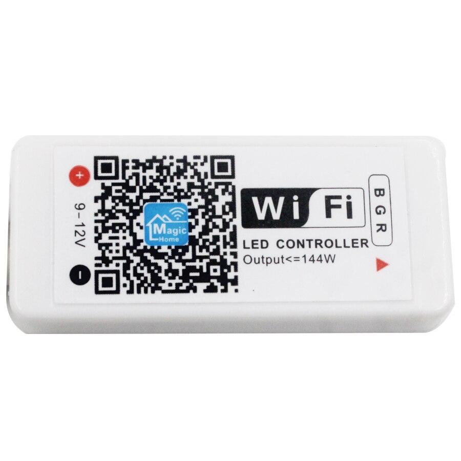 WIFI 20M RGB LED Strip Light 5m SMD3528 Non Waterproof Flexible Lights LED Ribbon Tape Lamp DC12V +WIFIRemote Controller
