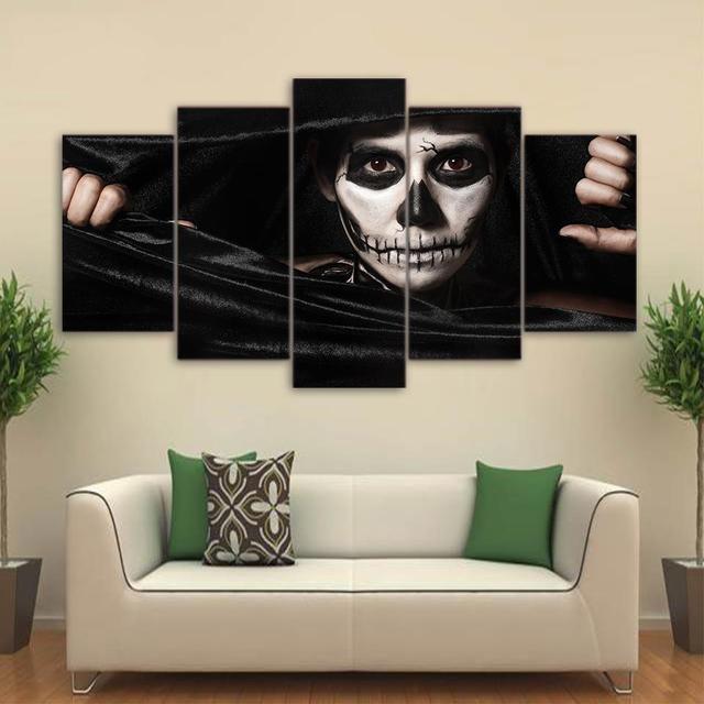5 panel enmarcado Joker Cara obras de arte HD impreso cuadro de la ...