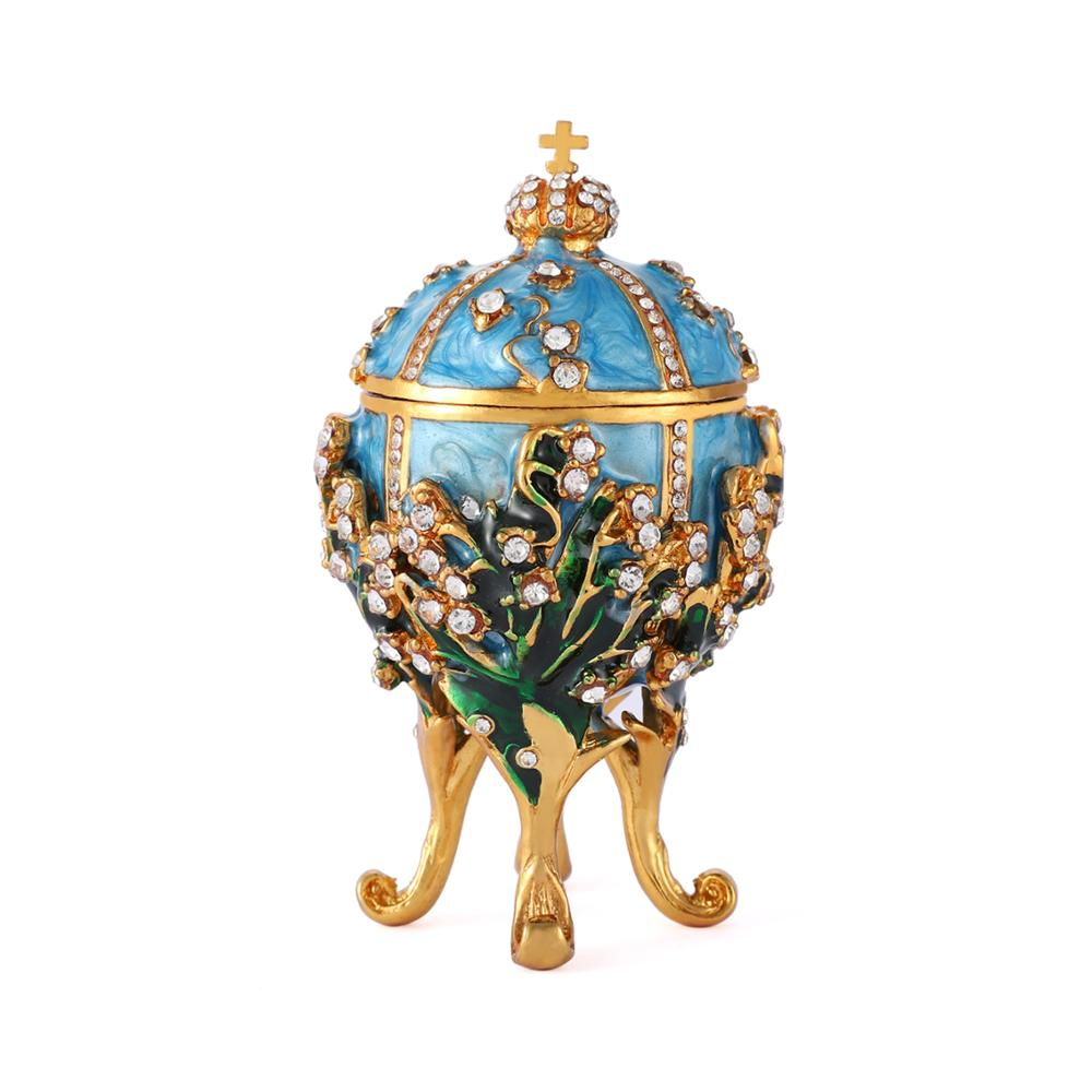 QIFU New arrive home decor Faberge egg 1898 Lilies of the Valley Egg replica for home decor.-in Figurines & Miniatures from Home & Garden on Aliexpress.com | Alibaba Group