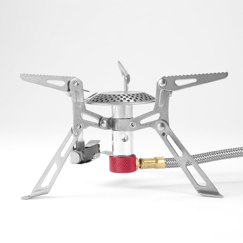 Cute Camping Stove Outdoor Gas Stove Burner Cooking Picnic Portable Foldable Lightweight Split Burner Stove With Ignition Device