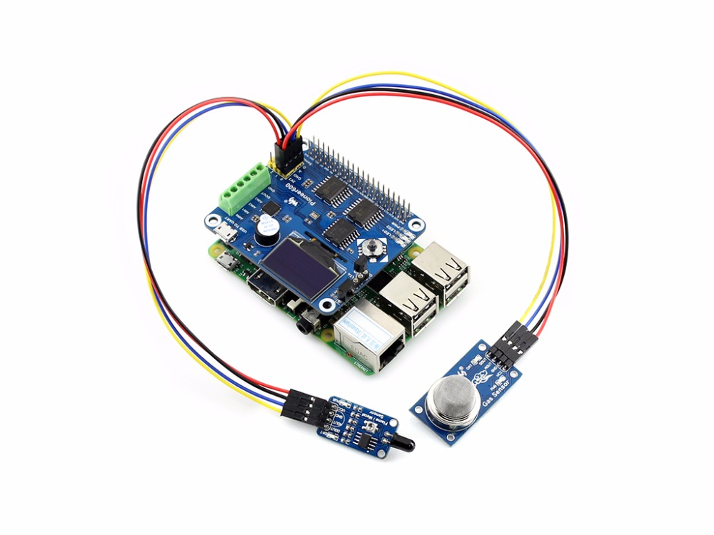 Parts Raspberry Pi Expansion Board Pioneer600 Supports Raspberry Pi 3 B/ 2 B/ A+/B+ 0.96inch OLED Display CP2102 USB TO UART dual mc33886 motor driver board dc 5v 2a for smart car raspberry pi a b 2b 3b