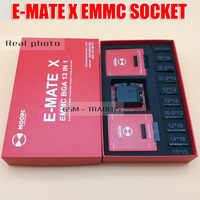 E MATE X EMMC SOCKET E MATE PRO BOX EMMC BGA 13 IN 1 SUPPORT 100 136 168 153 169 162 186 221 529 254 for Easy Jtag plus box