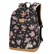Винтаж Цветочный рюкзак Для женщин дешевые сумки ноутбука холст печатных Школьные сумки для подростков Обувь для девочек рюкзак Mochila Feminina Эсколар