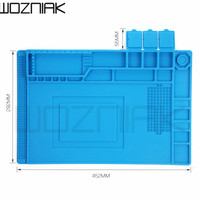 452x292 Radio Magnetic High Temperature Resistant Silicone Antistatic Mat Rubber Gasket Of Mobile Computer Repair Insulation