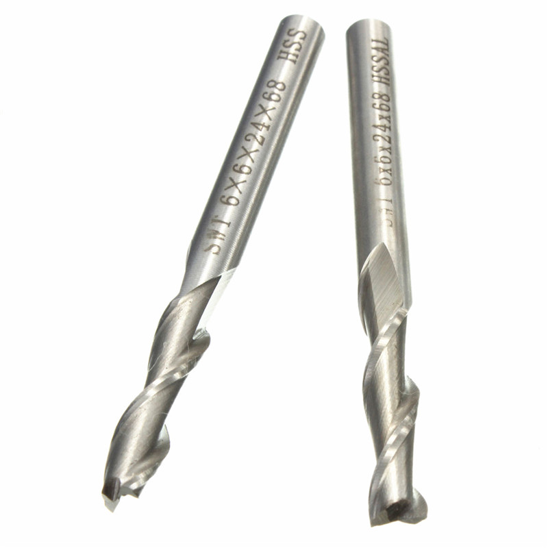 1Pcs 6mm 2 Flute HSS & Aluminium End Mill Cutter CNC Bit Milling Machinery tools Cutting tools Milling Machinery Cutting tools free shiping tju aju c16 16 120 dia 16mm insertable bore drilling end mill cutting tools for 1pcs cpmt080204 1pcs ccmt060204