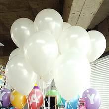 Ballon en Latex mat 10 pouces 10 pièces/lot, balles rondes gonflables à Air, ballons décoratifs pour fête d'anniversaire de mariage, 21 couleurs