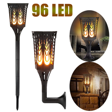 hot deal buy outdoor solar led dancing flash flame lamps light romantic flicker effect torch lights indoor led fire light bulbs lawn garden