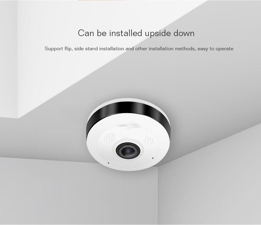 цена на 960 P 360 Grad Mini WiFi camera 1.3MP  Home Security camera Panorama IR  camera