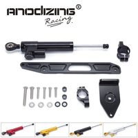 FREE SHIPPING For YAMAHA XJR1300 2002 2015 Motorcycle Aluminium Steering Stabilizer Damper Mounting Bracket Kit
