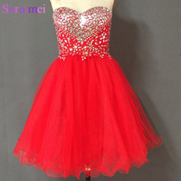 Sexy Tulle Strapless Prom Dress Knee Length Party Dresses Plus Size Prom Gown With Hand Bead