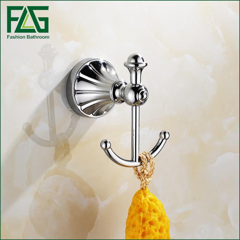 FLG Bathroom Accessories wall hook Zinc-Alloy Chrome finish wall coat hanger все цены