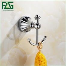 FLG Bathroom Accessories wall hook Zinc-Alloy Chrome finish coat hanger