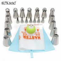 22Pcs Set Russian Lcing Piping Nozzles Korean Style Stainless Steel Pastry Tips Set Baking Tools DIY