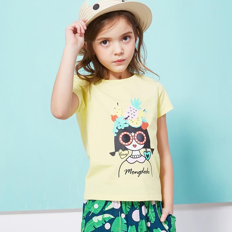 Girls T Shirts Summer 2018 Cartoon Lady Kids Tshirt For Girls Size 10 Comfortable Chic Summer Girls Tees Tops Children Clothing