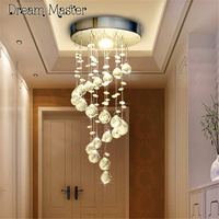 Led Simple Modern Crystal Lamp Entrance Hallway Stairs Lamp Dining Room Crystal Lamp Postage Free