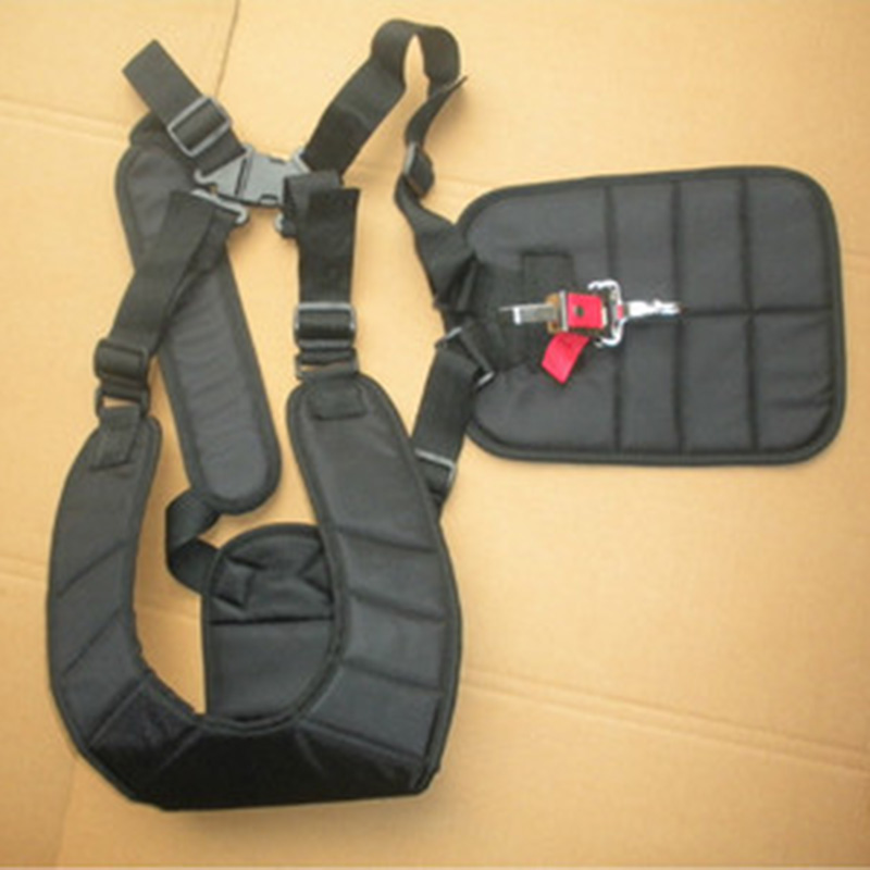 Double Shoulder Harness Strap Padded Belt For Brush Cutter Trimmer Lawn Mower