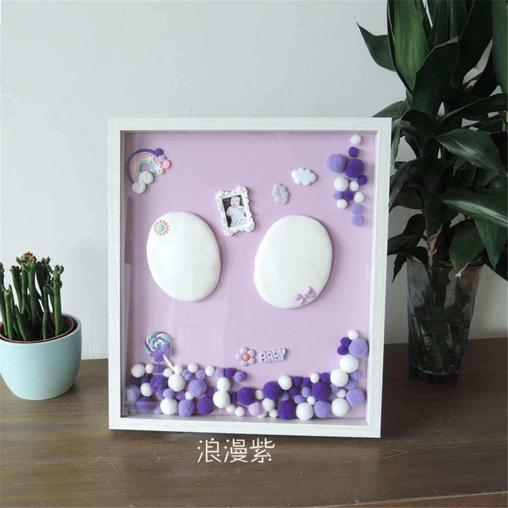 taoqueen new baby care air drying soft clay baby handprint footprint