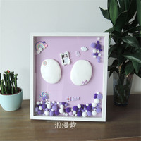Taoqueen New Baby Care Air Drying Soft Clay Baby Handprint Footprint Imprint Kit Casting Light Hand Print Inkpad