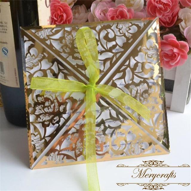 antique laser cut sparkle gold invite quinceanera celebration