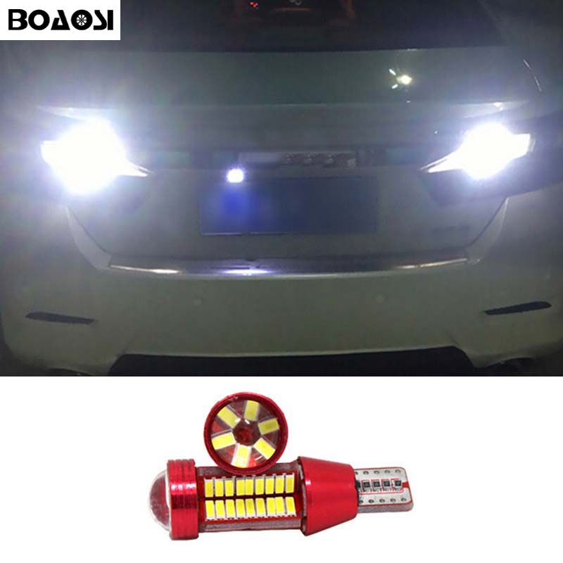 BOAOSI 1x T15 W16W LED CANBUS Samsung 4014 Chip Backup Reverse Light For Toyota Camry Tundra Corolla rav4 crown new reiz chip for samsung proxpress slc 462 w c 462 w 4063s c460fw 3304 els xaa xil see brand new digital copier chip fuse