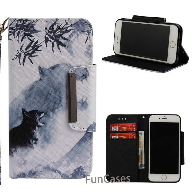 Moda qualidade de luxo couro do plutônio carteira para iphone 7 iphone 8 caso capa flip magnética pintado capa completa hoesje kryt fundas 2