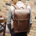 Leisure Backpack Backpack Men Korean Student Computer Bag Bulk Crazy Horse Travel Bag Trend 16 Inch Backpack Men Bag