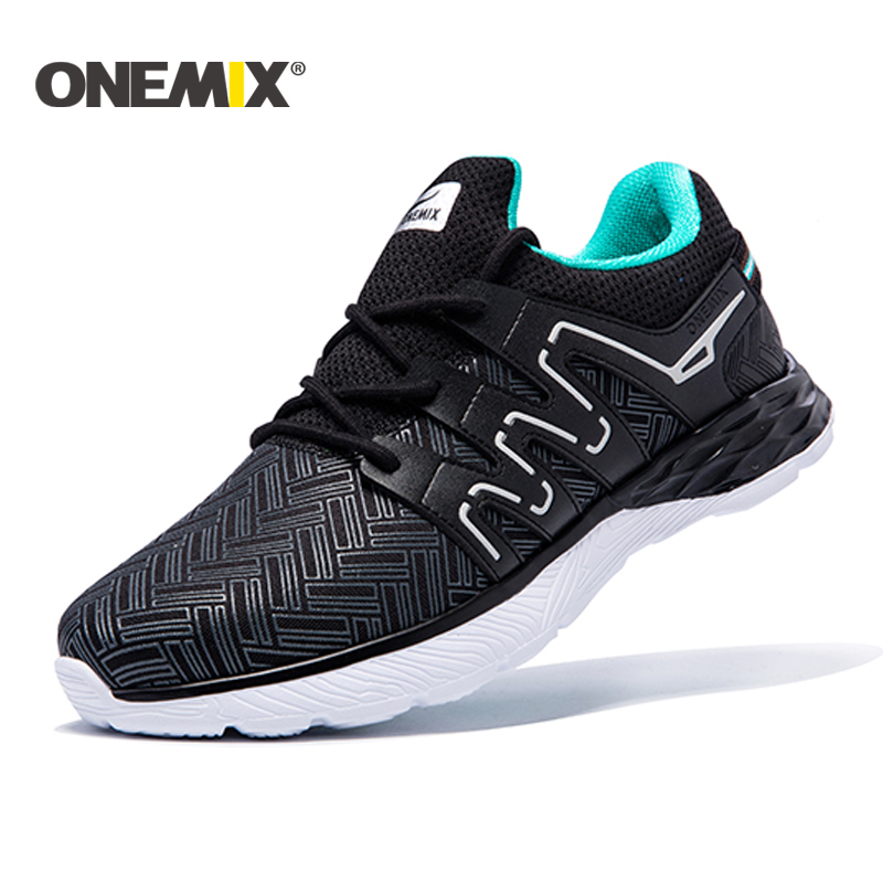 Onemix 2018 running shoes men breathable walking shoes outdoor male sport sneakers light jogging shoes for