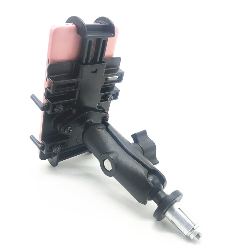 New Fork Stem Motorcycle Mount Alumium Double Socket Arm for Cell Phones Smartphones RAM mount
