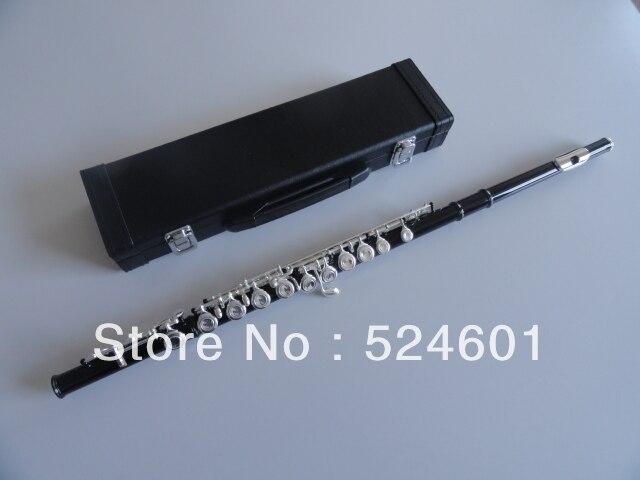 En gros étudiants D'inventaire 16 trou plus la touche E la obturateur flûte instrument corps noir Argent Grant