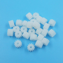 122A Module 0.5 Pinion 12 Tooth Plastic Gear Model Toy Fittings Gears 100pcs/pack