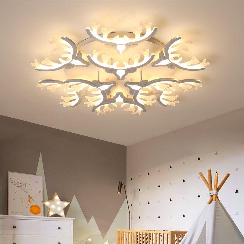 Led Modern Iron Acrylic Antler Led Lamp.led Light.ceiling Lights.led Ceiling Light Ceiling Lights & Fans Ceiling Lamp For Bedroom Foyer