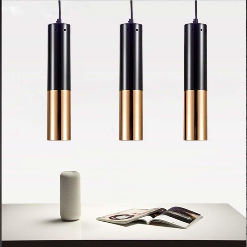Lampe suspendue tubulaire moderne brève créative Vintage industrielle suspension lampe Art café Restaurant Bar métal suspendu éclairage