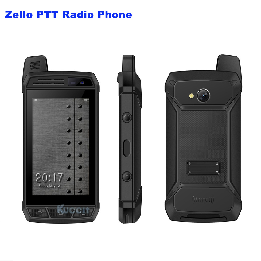 Original F36 Zello PTT Radio 4G LTE Android 7.0 Walkie Talkie Network intercom Rugged Waterproof Smartphone Enhanced Antenna F30