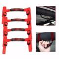 4Pcs/Set Bar Grab Handles Red Rear Seat Handshandle Grip Armrest For Jeep/Wrangler JK Car Accessary Canvas and Plastic