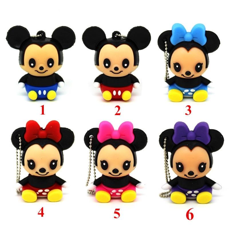 Cartoon Animal Memory Stick Cute Minnie/mickey Mouse Pen Drive 8gb Pendrives 32gb Usb Flash Drive 16gb 8gb 4gb Memory Usb Stick