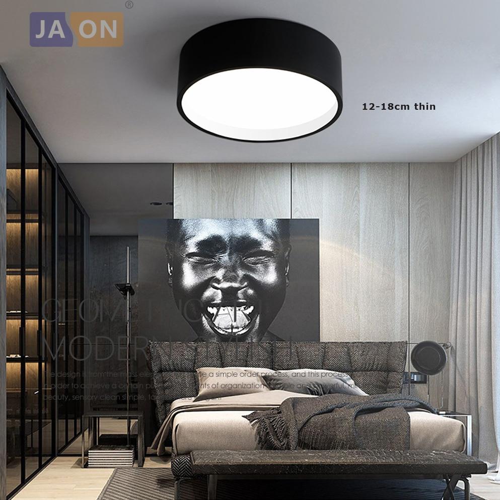 LED Modern Acryl Alloy Round Black White LED Lamp.LED Light.Ceiling Lights.LED Ceiling Light.Ceiling Lamp For Foyer Bedroom