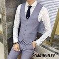 Mauchley Versão Do Clássico De Todos Os Jogo Fino Colete Puro Britânico dos homens Slim Fit Colete Colete Moda Masculina de Alta qualidade colete
