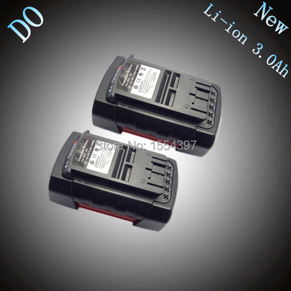 2PCS 36V 3000mAh Rechargeable Power Tool Li-Ion Battery Replacement for Bosch 2 607 336 003 2 607 336 173 BAT810 BAT836 D-70771 2 pcs 3 6v 2100mah ni mh rechargeable power tool battery replacement for black