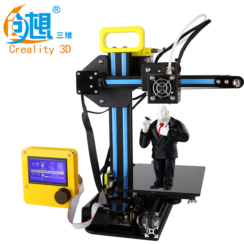 Newest Mini Version Desktop Level Creality CR-7 3D Printer With LCD Display Portable Cheap DIY 3 D Printer Parts Free Shipping portable cr 7 mini 3d printer fdm lcd off line printing self assembly diy kit lightweight for artistic design free shipping