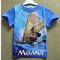 Летние девочки мальчики мода футболка Моана мальчиков одежда Круглый шеи дети футболка с коротким рукавом хлопка дети мальчик одежда