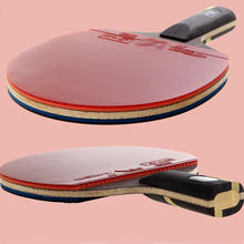 Top quality short and long handle rubber paddle table tennis rackets grip carbon wooden holder good quality pingpong rackets