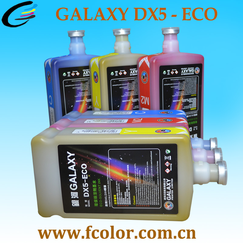 Inkjet Eco Solvent Ink For DX4 Dx5 Dx7 Printhead Galaxy Printer Ink Wholesale 20 Litres Free Shipping cmyk mimaki printer ink dx4 solvent printhead ink 1000ml