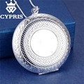 Best Selling Fashion Silver  Pendant Big Locket Plate Charm Necklace    13 styles Cheap Good quality Wholesale Price CYPRIS