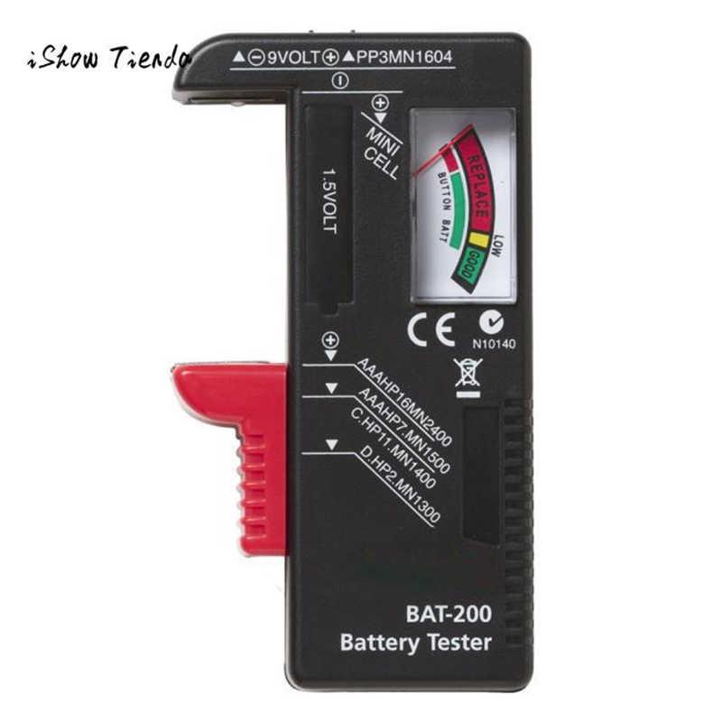 חדש חם מחוון סוללה תא בודק AA AAA C/D 9V וולט כפתור בודק סוללה קיבולת tester זרוק חינם Gereedschap