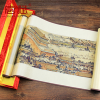 Silk Brocade Painting Beijing The Imperial Palace Gift Chinese Characteristic Craft View Pictures Business Souvenir Home