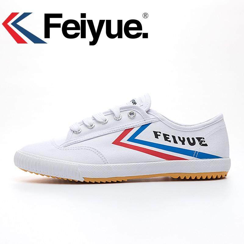 ad7c0f2d0069 Купить Французский оригинал кроссовки 2017 Feiyue обувь боевых искусств  занятий тхэквондо ушу Классический белый черный Кунг фу Мужская и женская  обув.