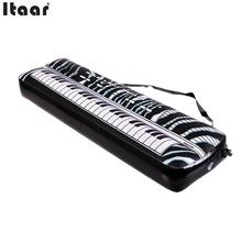 New PVC Inflatable Keyboard Piano Musical Instrument Party Music Toy Children Kids Black and White Gift